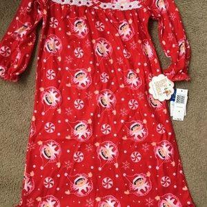 Girls 4 elf on shelf nightgown Christmas pajamas